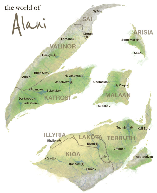 Alani world map