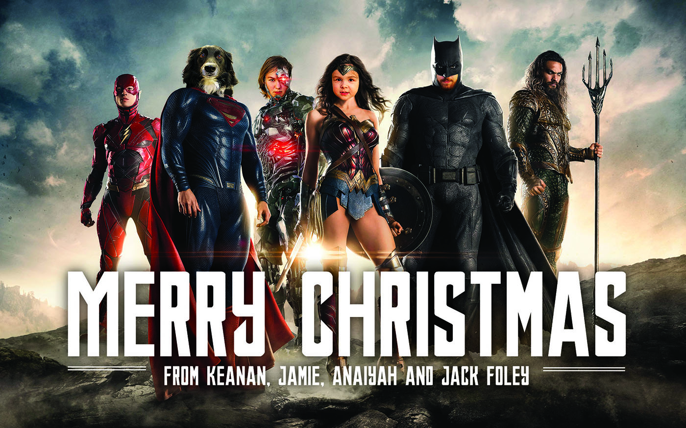 Justice League: Merry Christmas from the Foleys!