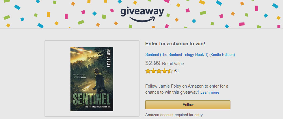 Amazon Giveaway: 7 Kindle copies of Sentinel