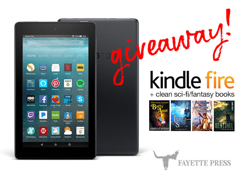 2 chances to win a Kindle & sci-fi/fantasy book bundles